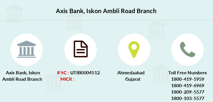 Axis-bank Iskon-ambli-road branch