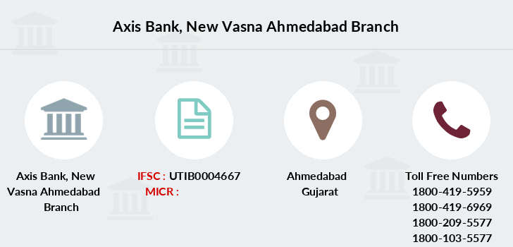 Axis-bank New-vasna-ahmedabad branch