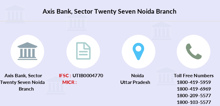 Axis-bank Sector-twenty-seven-noida branch