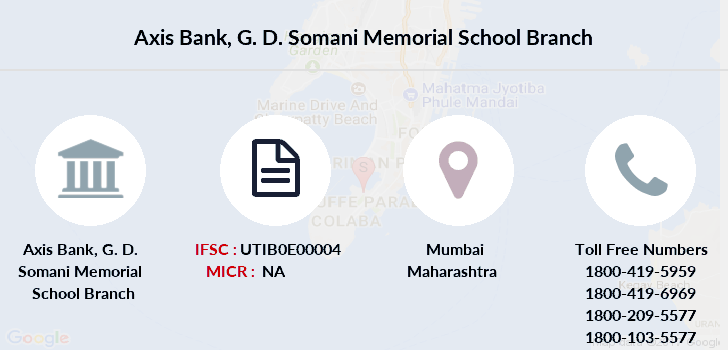 Axis-bank G-d-somani-memorial-school branch
