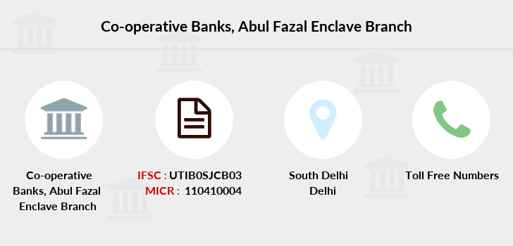 Co-operative-banks Abul-fazal-enclave branch