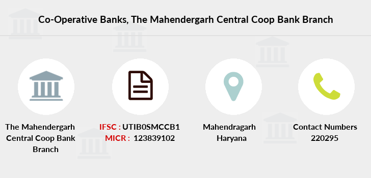 Co-operative-banks The-mahendergarh-central-coop-bank branch