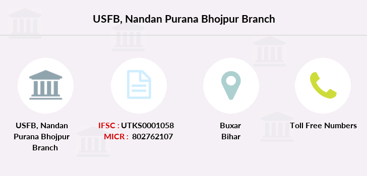 Utkarsh-small-finance-bank Nandan-purana-bhojpur branch