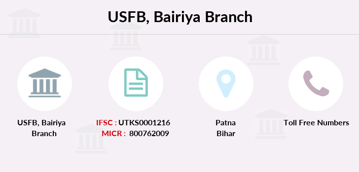 Utkarsh-small-finance-bank Bairiya branch
