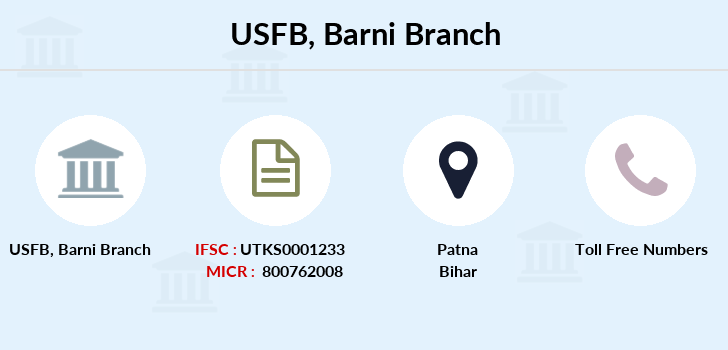 Utkarsh-small-finance-bank Barni branch