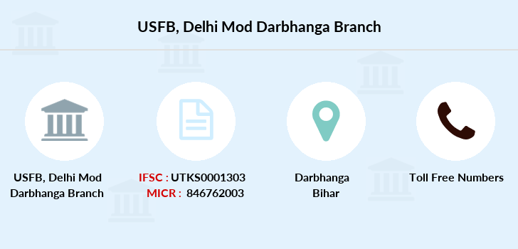 Utkarsh-small-finance-bank Delhi-mod-darbhanga branch