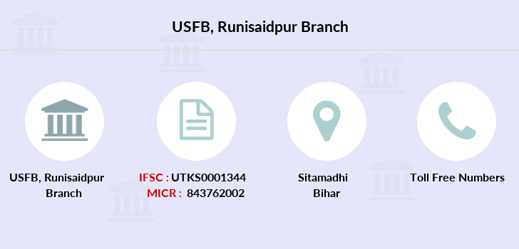 Utkarsh-small-finance-bank Runisaidpur branch