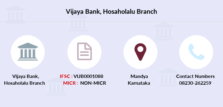 Vijaya-bank Hosaholalu branch