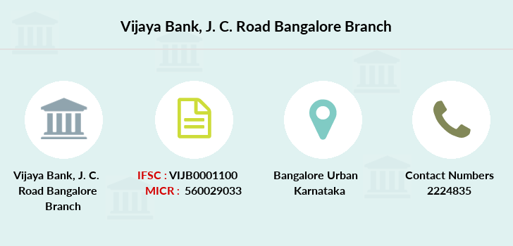 Vijaya-bank J-c-road-bangalore branch