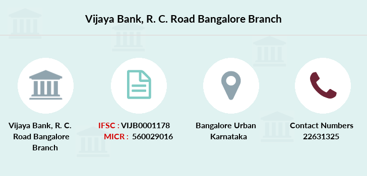Vijaya-bank R-c-road-bangalore branch