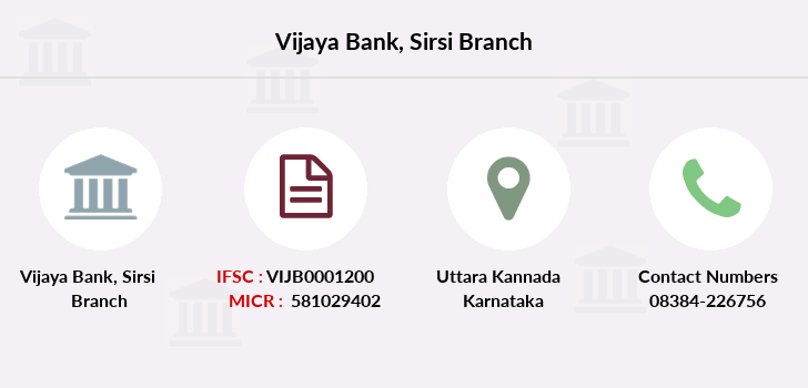 Vijaya-bank Sirsi branch
