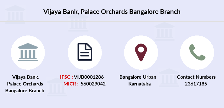 Vijaya-bank Palace-orchards-bangalore branch