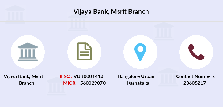 Vijaya-bank Msrit branch
