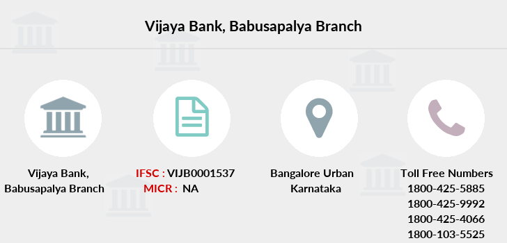 Vijaya-bank Babusapalya branch