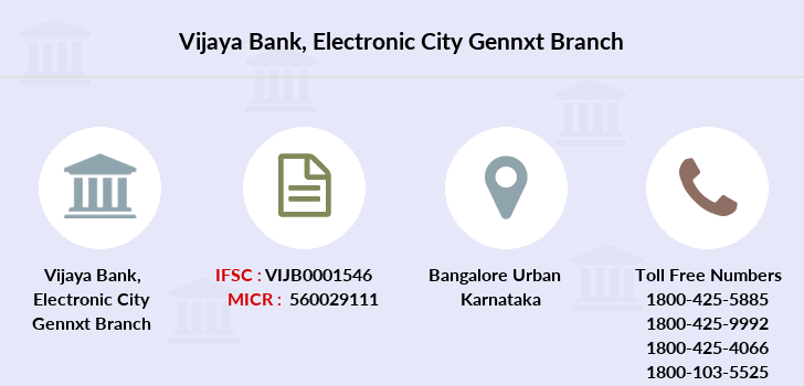 Vijaya-bank Electronic-city-gennxt branch