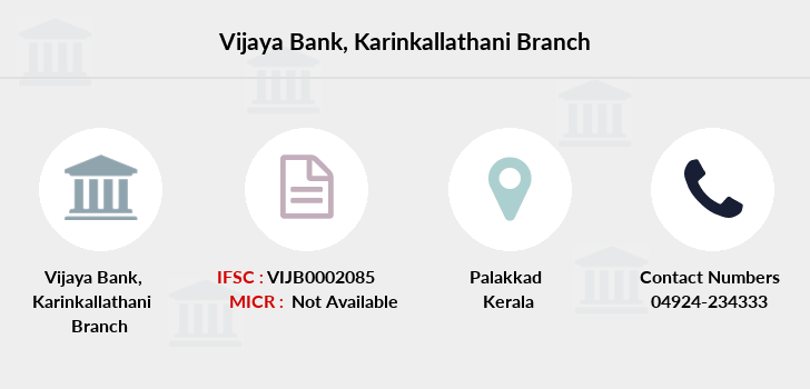 Vijaya-bank Karinkallathani branch