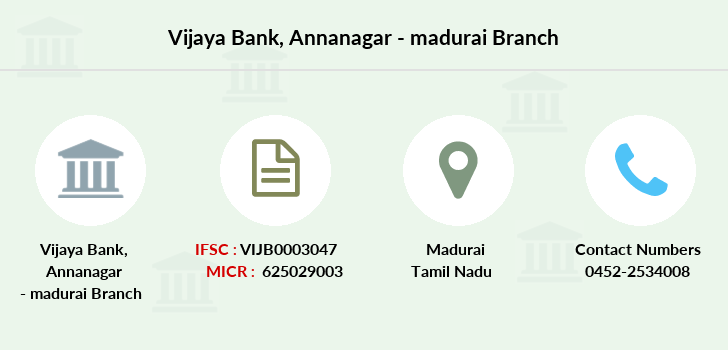 Vijaya-bank Annanagar-madurai branch