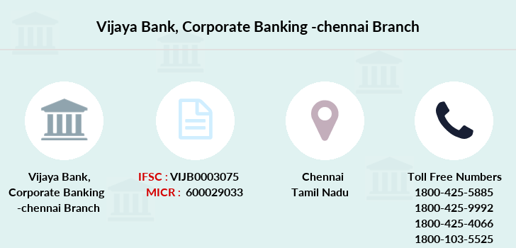 Vijaya-bank Corporate-banking-chennai branch