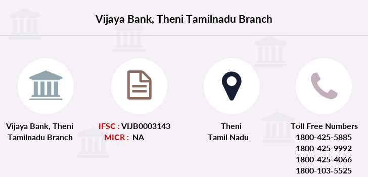 Vijaya-bank Theni-tamilnadu branch