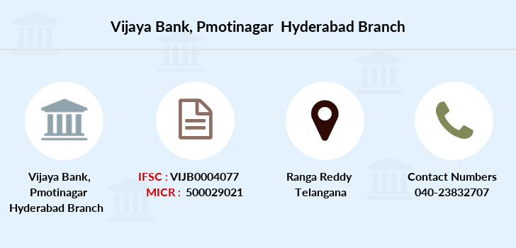 Vijaya-bank Pmotinagar-hyderabad branch