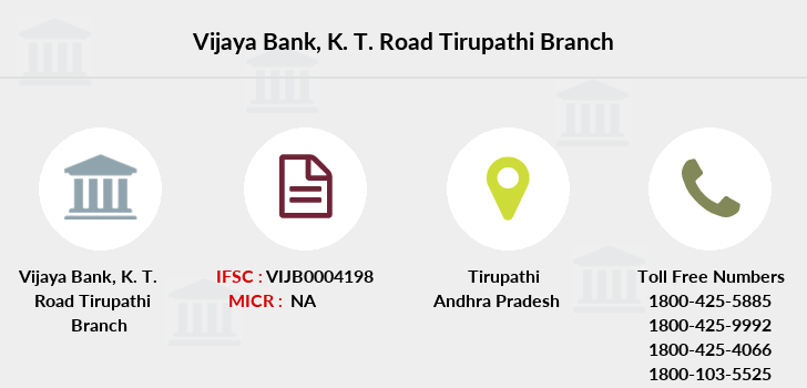 Vijaya-bank K-t-road-tirupathi branch