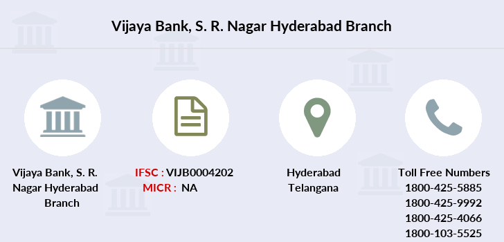 Vijaya-bank S-r-nagar-hyderabad branch
