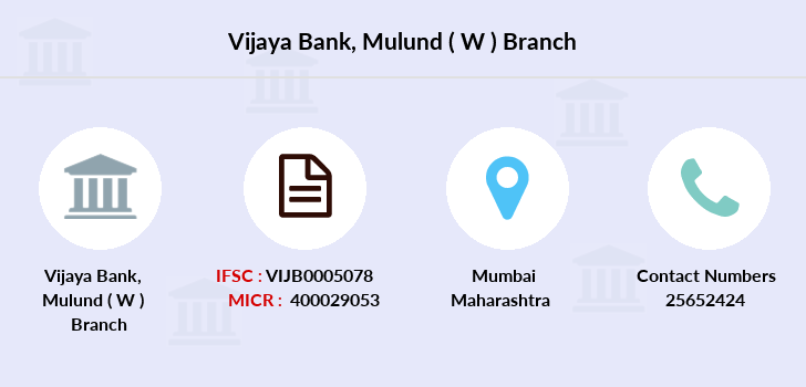 Vijaya-bank Mulund-w branch