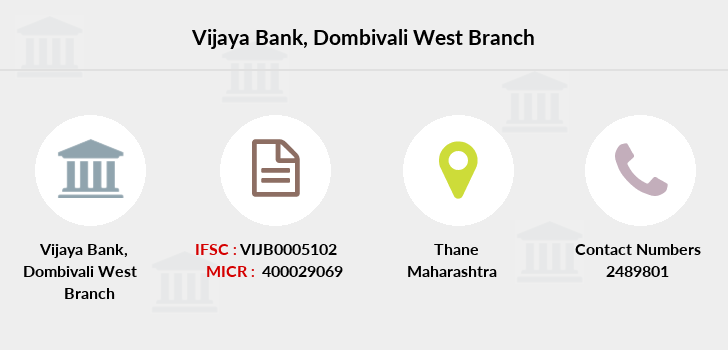 Vijaya-bank Dombivali-west branch