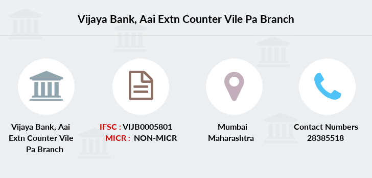 Vijaya-bank Aai-extn-counter-vile-pa branch