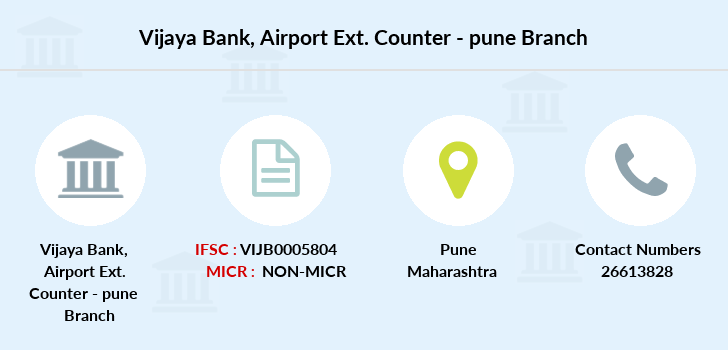 Vijaya-bank Airport-ext-counter-pune branch
