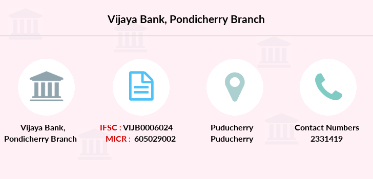 Vijaya-bank Pondicherry branch