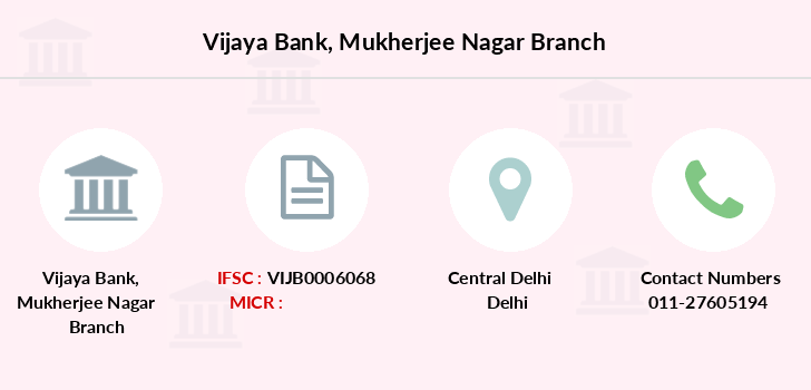 Vijaya-bank Mukherjee-nagar branch