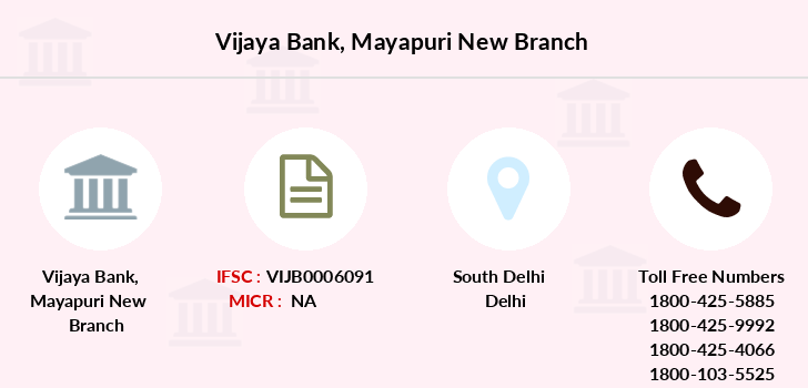 Vijaya-bank Mayapuri-new branch