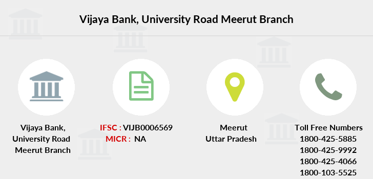 Vijaya-bank University-road-meerut branch