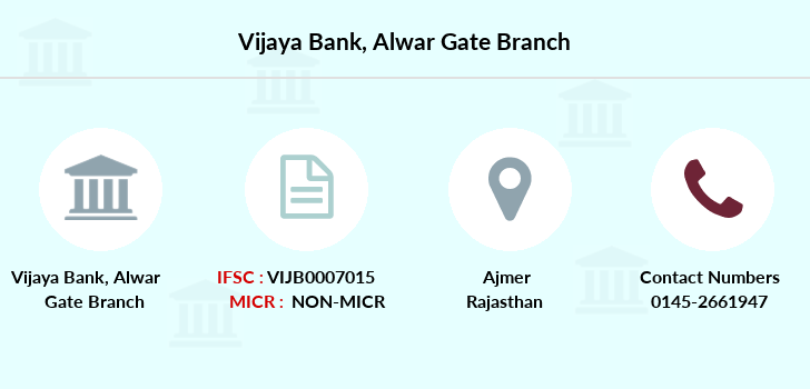 Vijaya-bank Alwar-gate-ajmer branch