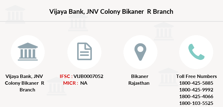 Vijaya-bank Jnv-colony-bikaner-r branch