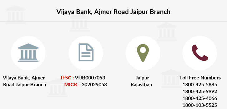 Vijaya-bank Ajmer-road-jaipur branch