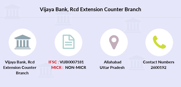Vijaya-bank Rcd-extension-counter branch