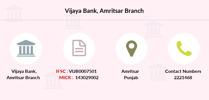 Vijaya-bank Amritsar branch