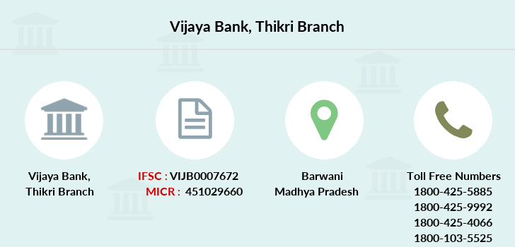 Vijaya-bank Thikri branch
