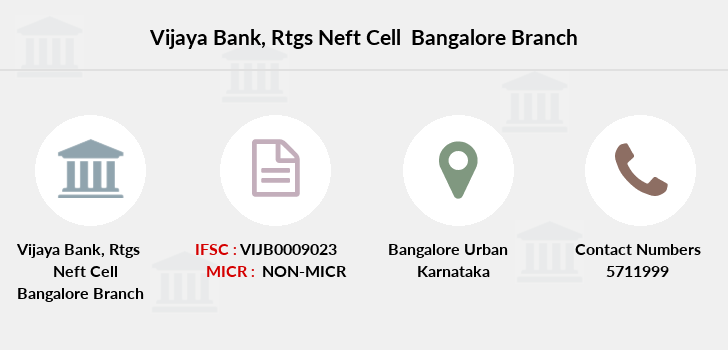Vijaya-bank Rtgs-neft-cell-bangalore branch