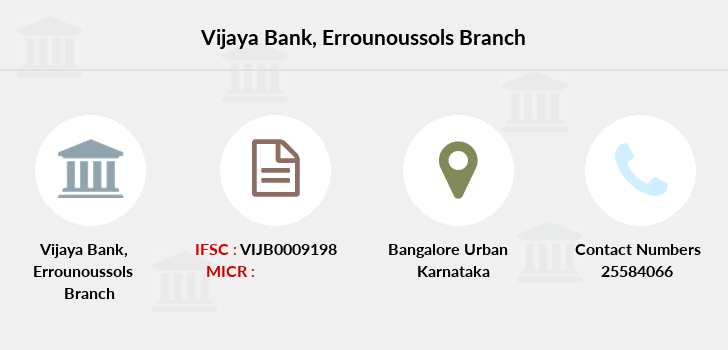 Vijaya-bank Errounoussols branch