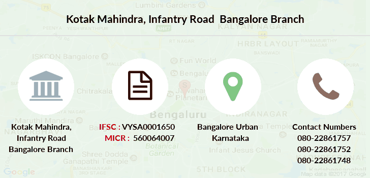 Kotak-mahindra-bank Infantry-road-bangalore branch
