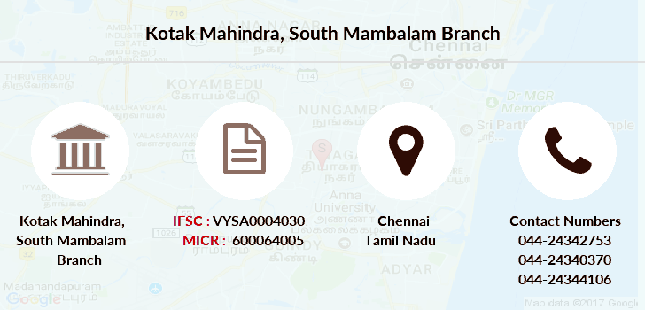 Kotak-mahindra-bank South-mambalam branch