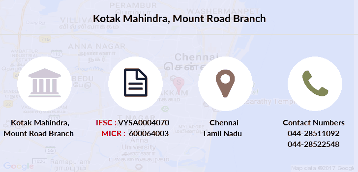 Kotak-mahindra-bank Mount-road branch