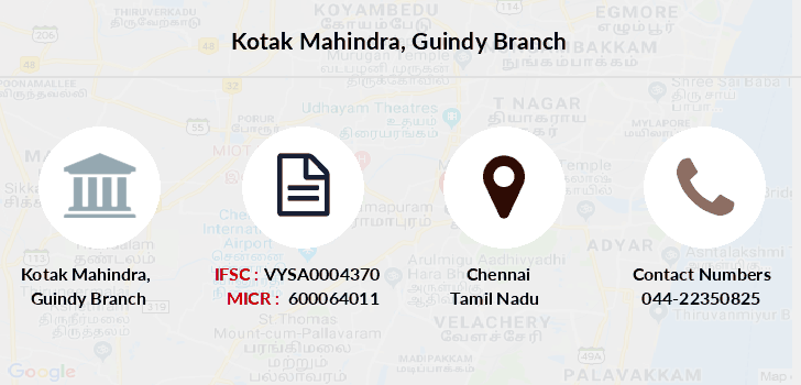 Kotak-mahindra-bank Guindy branch