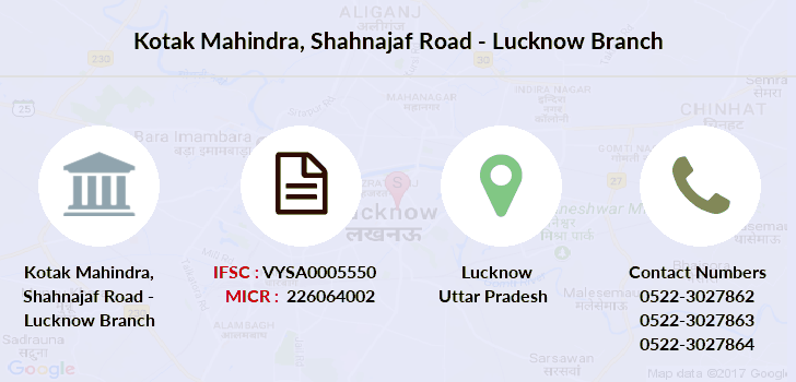 Kotak-mahindra-bank Shahnajaf-road-lucknow branch