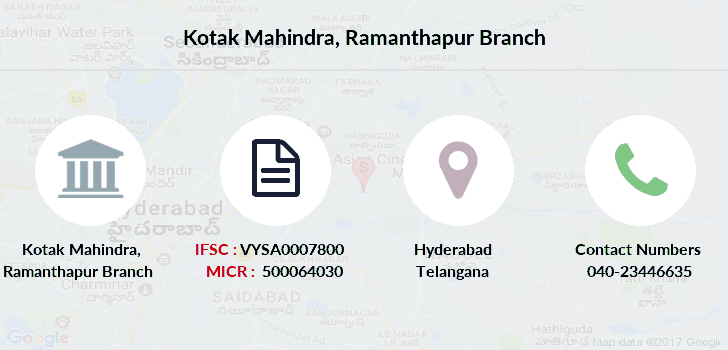 Kotak-mahindra-bank Ramanthapur branch