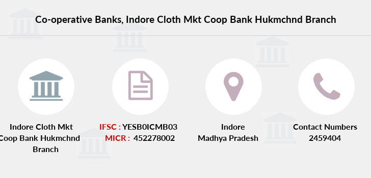 Co-operative-banks Indore-cloth-mkt-coop-bank-hukmchnd branch