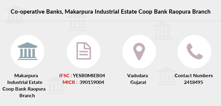 Co-operative-banks Makarpura-industrial-estate-coop-bank-raopura branch
